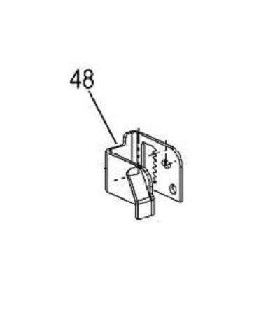 FM-70 assembly bracket mowing deck left 1