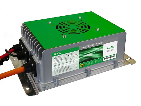 Lader Aces 72v 25amp Lithium Ion. Geschikt voor Leffert FM-50/FM-80/FM-90 1